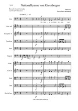 Nationalhymne von Rheinbergen (National Anthem of Rheinbergen) baritone and orchestra – Score and Parts