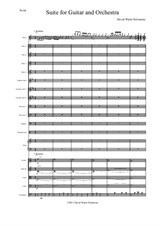 Guitar and Orchestra Suite Complete (Score only)