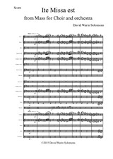 Ite Missa Est for orchestra (Score and Parts)
