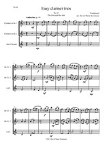 The Oak and the Ash (A North country maid) for clarinet trio (2 B flats and 1 Alto)