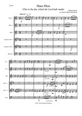 Haec Dies for wind sextet (2 flutes, oboe, 2 clarinets, bassoon)