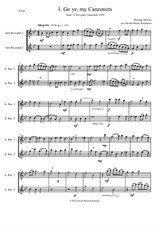 12 easy Canzonets for alto recorder duo