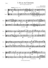 12 easy Canzonets for viola duo