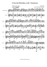 8 Jewish Melodies with Variations for alto recorder and guitar