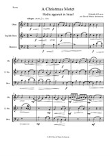 Christmas Motet (Hodie apparuit in Israel) for double-reed trio