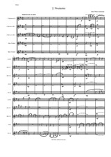 Nocturne for clarinet quintet (E flat, 2 B flats, alto and bass)