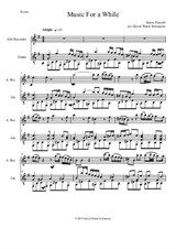Music for a While for alto recorder and guitar