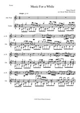 Music for a While for alto flute and guitar