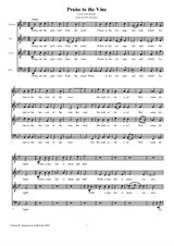 Praise to the Vine – SATB choir